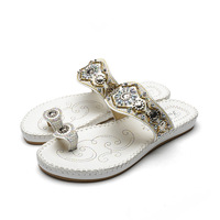 Hot Sale Women Flip Flops New Woman Sandals Bohemian Style Diamond Inlaid Clip Toe Female Slippers Crystal Slippers Shoes Women