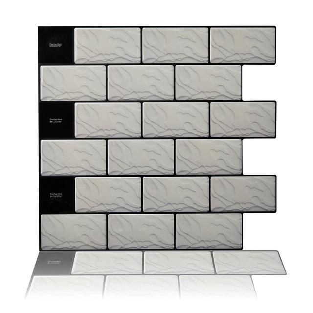 Cocotik 105x10 Self Adhesive 3d Wall Tile Peel And Stick - Self-adhesive-backsplash-set