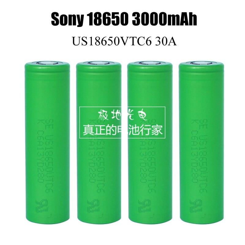 100% for SONY US <font><b>18650</b></font> <font><b>VTC6</b></font> 30AH Discharge 3000mah 3.6V 3.7V Dynamic Lithium-ion Li-ion Rechargeable Chargeable <font><b>Batteries</b></font>