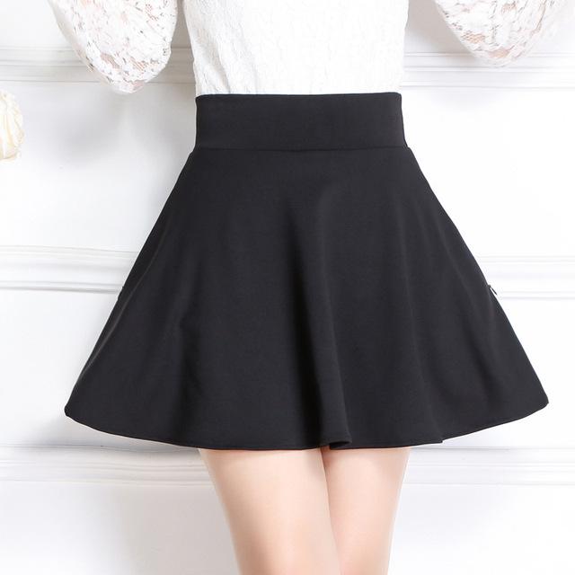 Nueva Moda Mujeres de La Falda Corta A-Tipo de Otoño e Invierno Faldas Plisadas Para Mujer Más El Tamaño M-XL de bolsillo con cremallera Invisible Saia Falda