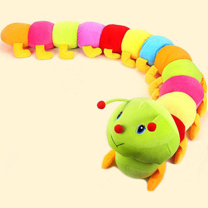 50cm lovely plush toy Pillow toys cute Inchworm Soft toy kawaii caterpillars Doll Baby Kid toy