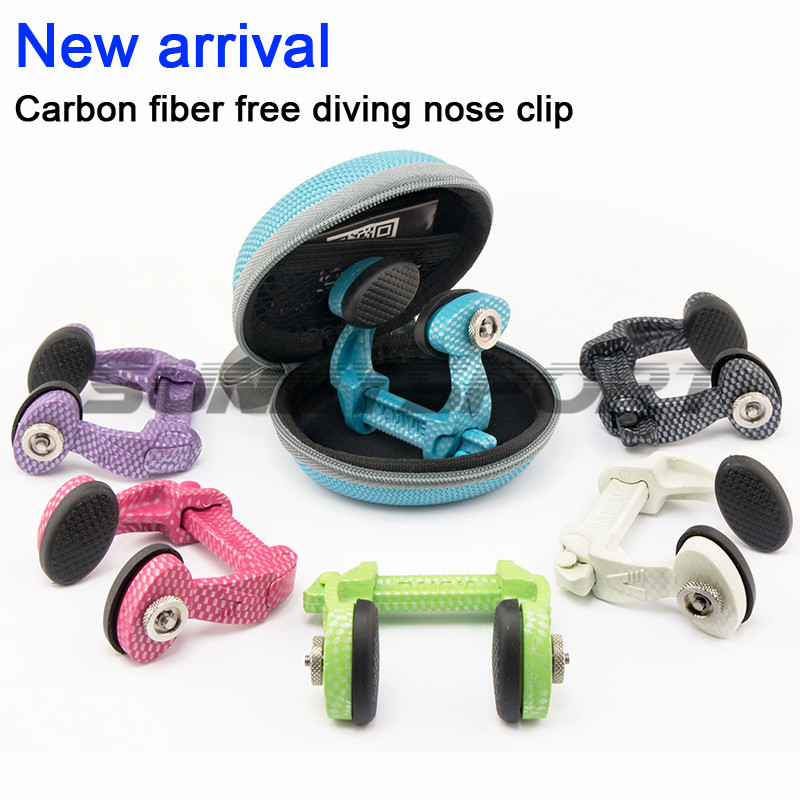 Carbon fiber professional free nose clip free diving equipment, six color optional swimming nose clip, non aluminum alloy Carbon fiber professional free nose clip free diving equipment, six color optional swimming nose clip, non aluminum alloy