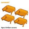Auxmart 4 unids Ámbar Cubierta Protectora Barra de Luz LED de 16 W 18 W Lámparas de Los Faros de niebla 12 v 24 v 4WD 4x4 SUV ATV Color Cambiable Shell