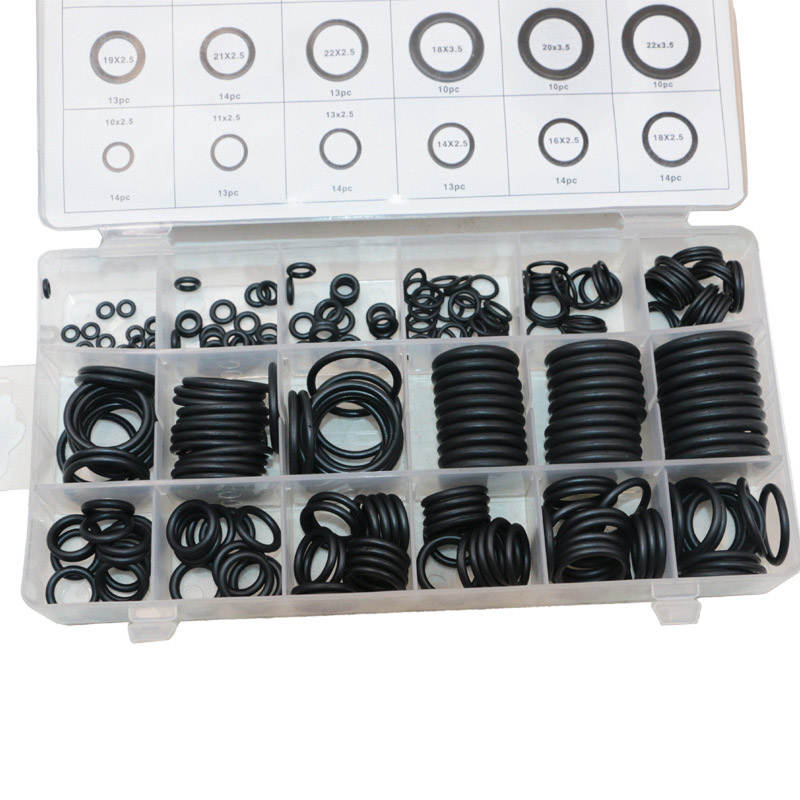 279pcs Black Rubber Grommet O-ring 18 Assortment Seal Ring Machine Parts Seal Apron For Protects Wire Cable Hose Custom Part o ring grommet hem skinny pants