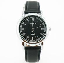 Vestido de marca de Alta Calidad de Caballero de La Vendimia Escala Roma reloj de Pulsera Clásico Negro de Cuero Genuino Reloj para Hombre Elegante Reloj