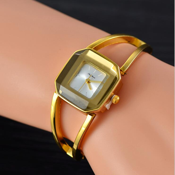 2018 Luxury Crystal Gold Watches Women Fashion Pulsera Reloj de - Relojes para mujeres
