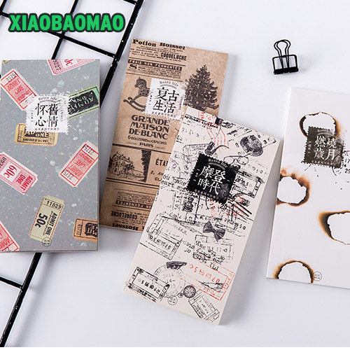 Vintage Retro Ticket Memo Pad Notes For School Office Supplies Stationery Planner Kawaii Notepad Paper Memo Pad 200 sheets 2 boxes 2 sets vintage kraft paper cards notes filofax memo pads office supplies school office stationery papelaria