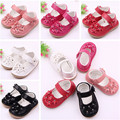Fashion Sweet PU Leather Baby Shoes Moccasin Newborn Shoes Rubber Sole Kids Girls Mary Jean Dress Shoes First Walkers for Bebe