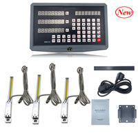 Milling lathe machine tool complete dro kit digital readout display SNS 3V with 3 pcs linear scales/encoder/sensor 2 to 40