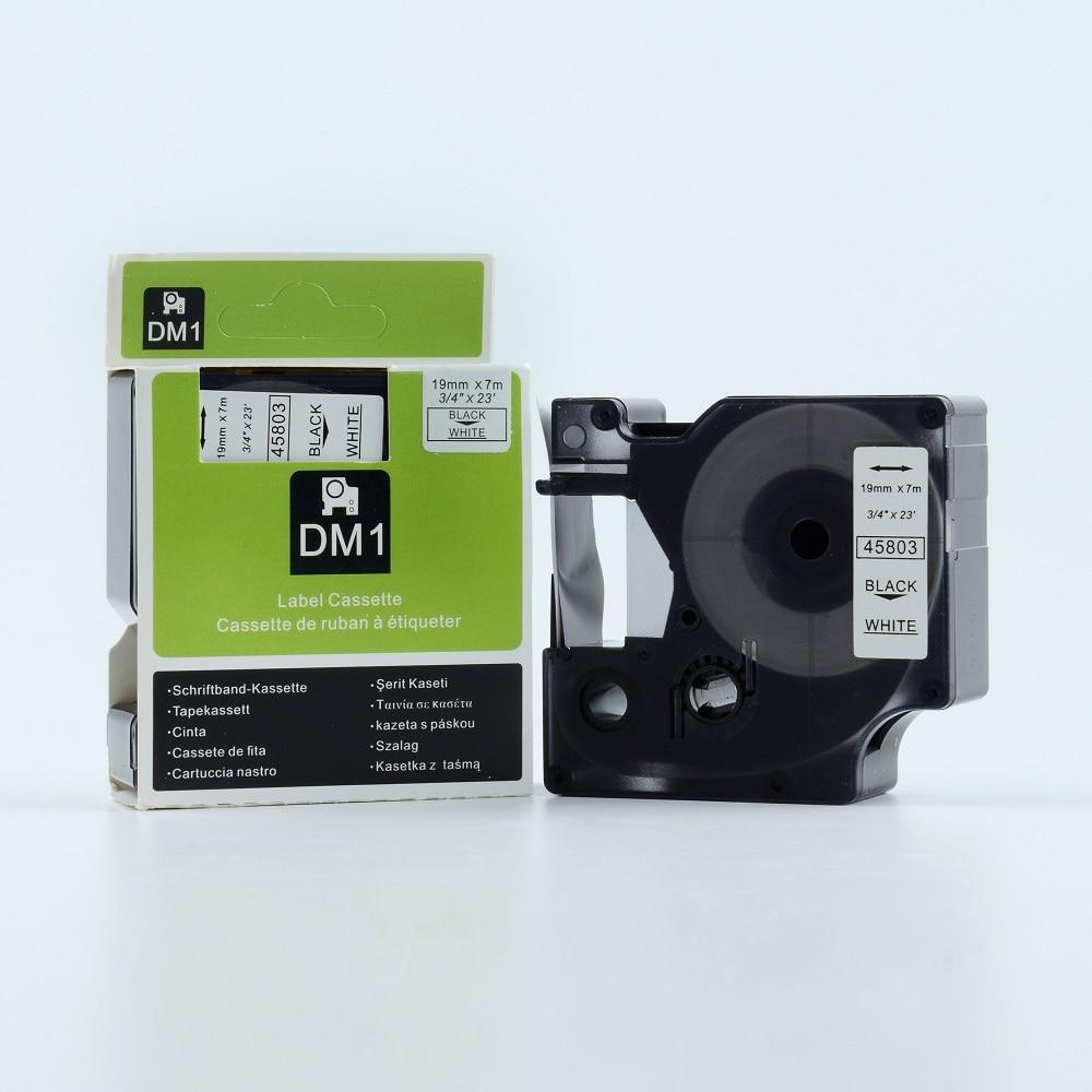 15pcs compatible DYMO D1 tapes 19mm black on white 45803 for dymo label maker label printer лента для печатающего устройства puty 2 pk 45013 dymo d1 d1 45013