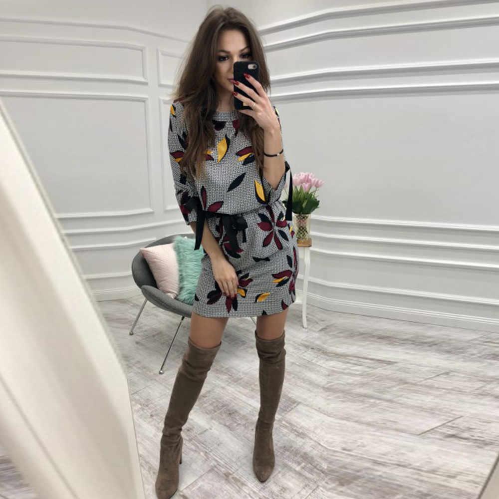 Jaycosin 2019 Lente Jurk Vrouwen O Hals Lange Mouw Bodycon Avond Party Korte Mini Jurk Fashion Elegant Casual Vestido
