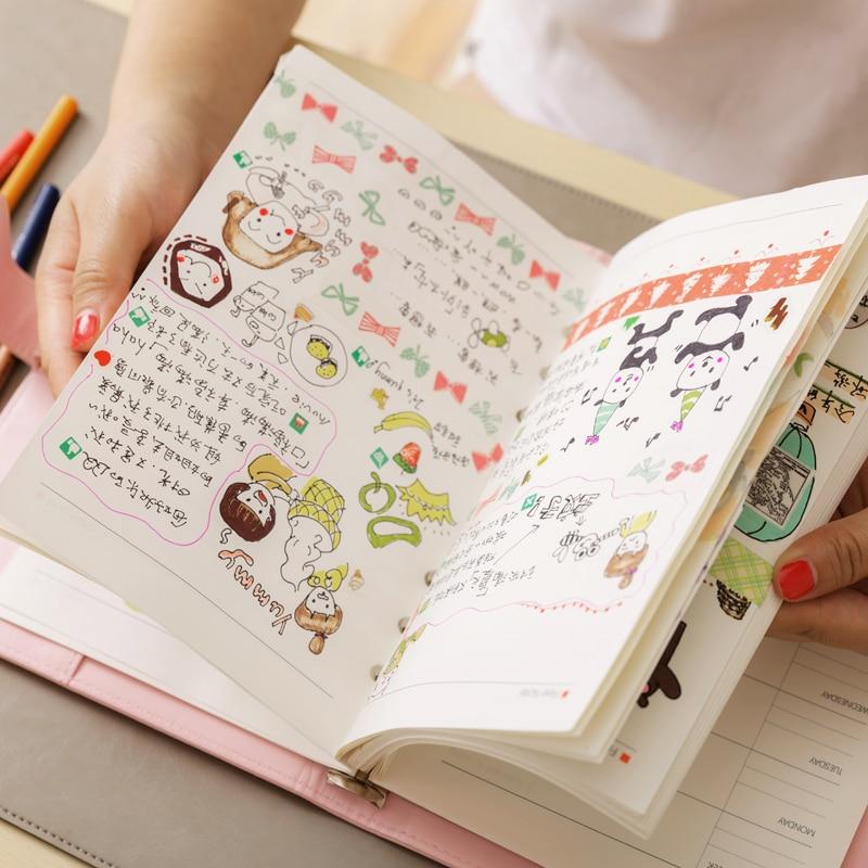 aliexpresscom buy macaron leather spiral notebook a5 a6 original office personal diaryweek planneragenda organizer cute ring stationery binder from