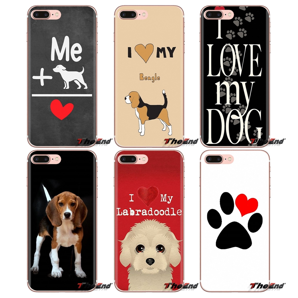 Shell-Covers Beagle S7-Edge Samsung Galaxy Love S10-Plus Transparent Note For S3 S4 S5