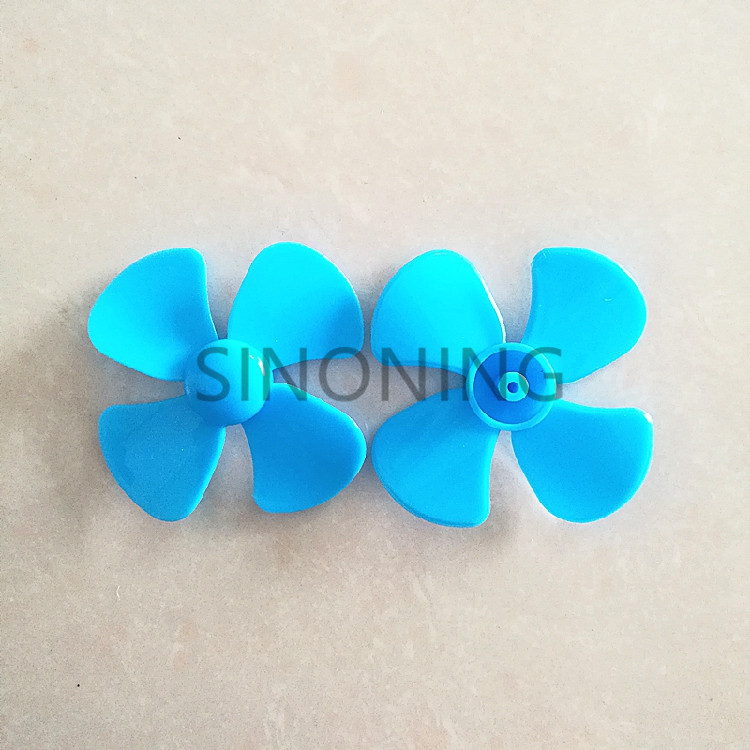 10pcs 56mm/80mm/<font><b>100mm</b></font> diameter plastic blade four leaf pulp <font><b>fan</b></font> leaves small production DIY Blue image
