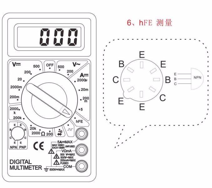 100pcs by dhl fedex Digital Multimeter AC DC Buzzer Voltmeter Ammeter Voltage Ampere Meter DT830D Tester with  Leads  LCD probe 8