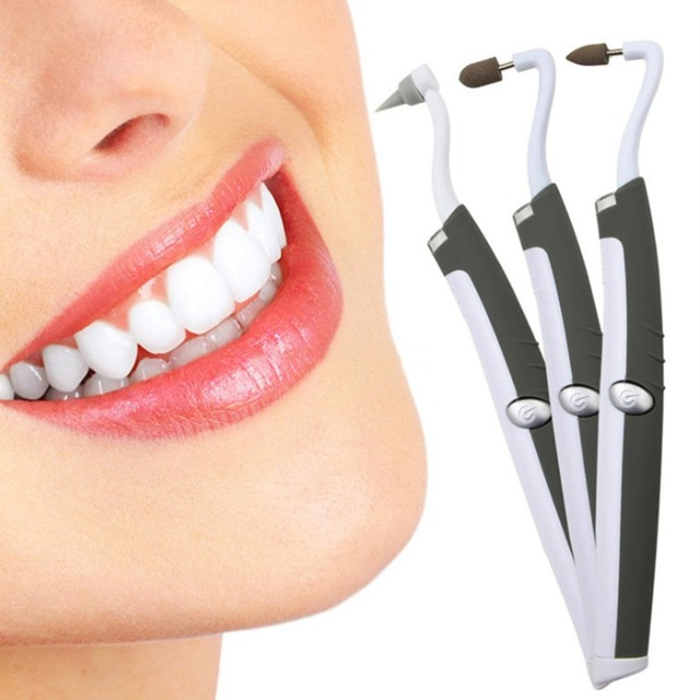 1 Set Multifunction LED Vibrating Electric Teeth Whitening Eraser Polishing Scaler Tartar Removal Grinding Teeth Stains