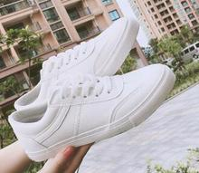 2016 shoes women spring and autumn new Korean leisure wild Harajuku PU College Wind Zapator Mujer solid white shoes