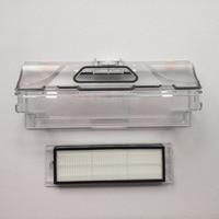 2pcs Original Vacuum Cleaner Parts 1pcs Robot Vacuum Cleaner Dust Bin Box 1pcs HEPA Filter For