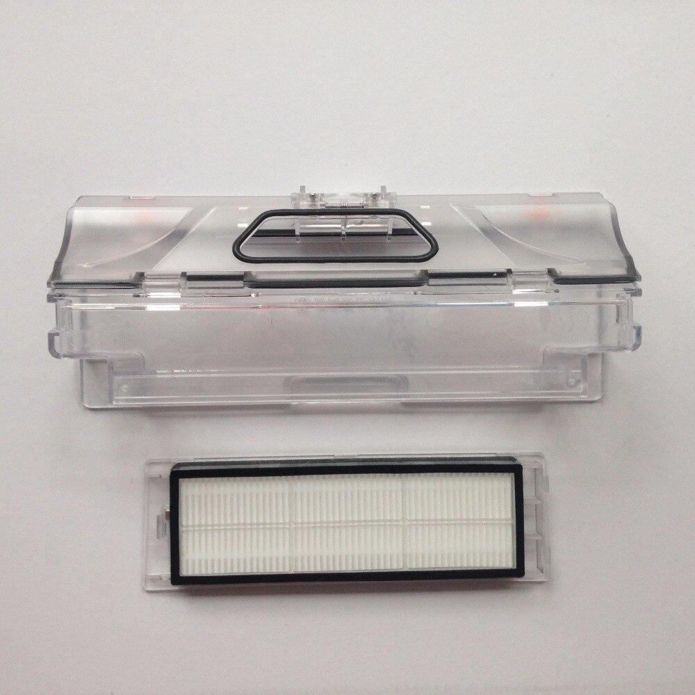2pcs original vacuum cleaner parts 1pcs robot Vacuum Cleaner Dust Bin Box +1pcs HEPA Filter for xiaomi robotisc Sweeper mi robot