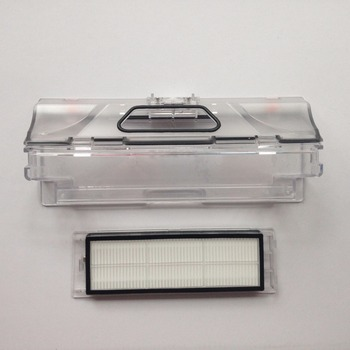 цена на 2pcs original vacuum cleaner parts 1pcs robot Vacuum Cleaner Dust Bin Box +1pcs HEPA Filter for xiaomi robotisc Sweeper mi robot