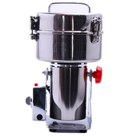Commercial Stainless Steel 2000G Kitchen Food Grinder Machine Swing Grain Herb Bean Rice Electric Grinder Machine