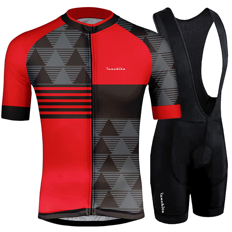 RUNCHITA 2019 Summer Cycling Jersey Set PRO TEAM AERO Clothing MTB Bicycle Clothes Wear Maillot Ropa Ciclismo Men Cycling Set