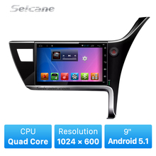 9 polegada Tela de Toque Android 5.0.1 para 2017 TOYOTA Corolla (RHD) direito de Condução sistema de navegação GPS com Bluetooth 4G wifi 1080 P