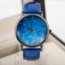 Montre Lune Photo Unisexe montre Femmes Hommes Montre-Bracelet Étoilé Ciel Espace Montre Peu Étoiles Montre-Bracelet Cadeau D'anniversaire Spécial saat