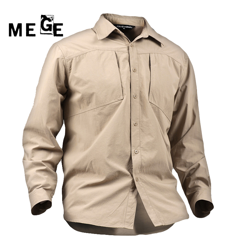 MEGE High Quality Quick Drying Outdoor Men Shirts, Army Breathable Clothes Camisa Pesca Sports Fishing Trekking Hiking Clothing вентилятор titan tfd 9225gt12z