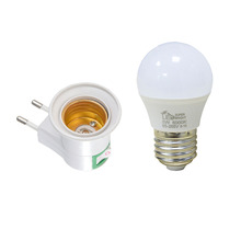 E27 LED Light Male Socket to EU Type Plug Adapter Converter for Bulb Lamp Holder With ON/OFF Button Lamp Base