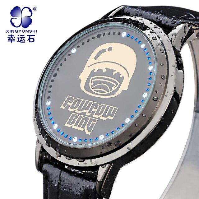 POWPOWBING gold watch Reloj Hombre Top Brand Luxury Fashion Casual Watches Men Waterproof Digital Watch relogio masculino