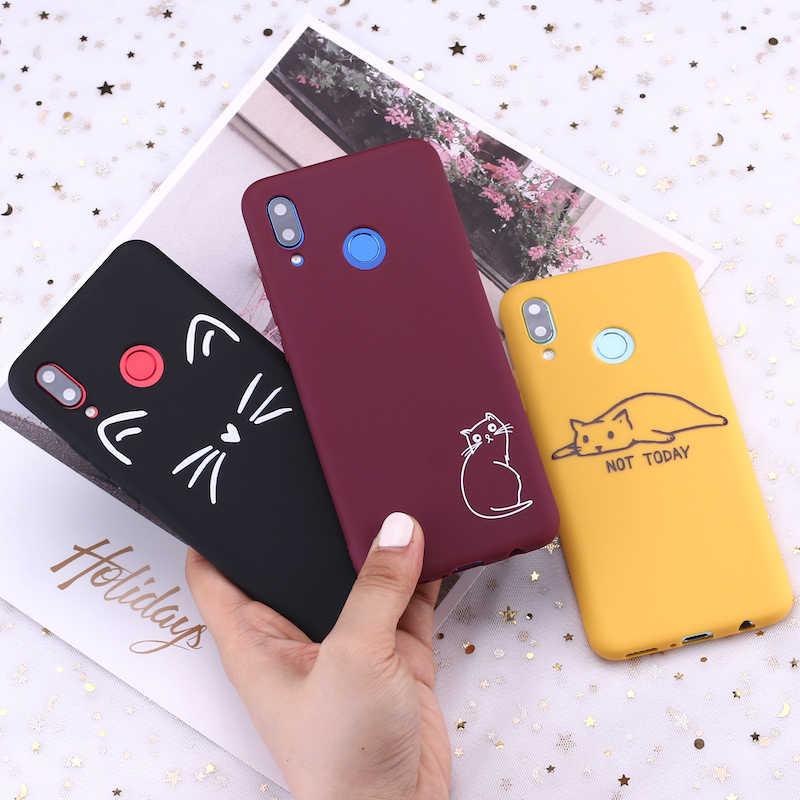 Pour Xiao mi mi rouge mi Note 5 6 7 8 9 lite Pro Plus chat chatons mèmes Kitty mignon bonbons Silicone housse de téléphone Capa Fundas Coque