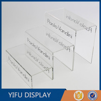 Three Layers Acrylic Shoe Display Stand Clear Acrylic Shoe Rack Shoe Holder