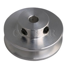 цены CNBTR 31x15 Silver Aluminum Alloy Single Groove Pulley for Motor Shaft 3-5MM PU Round Belt