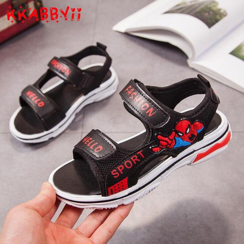 2018 Summer Beach Boy Sandals Kids Leather Shoes Fashion Sport Sandal Children Sandals For Boys Casual Shoes EUR 25-36