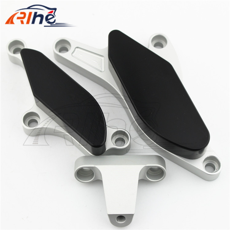 new style motorcycle accesories cnc Engine Guard Frame Sliders Crash Protector Fit For Kawasaki Ninja ZX10R 2008-2010 silver motorcycle frame sliders crash engine guard pad aluminium side shield protector for kawasaki ninja zx10r 2011 2013