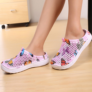 2019 womens casual Clogs Breathable beach sandals valentine slippers summer slip on women flip flops shoes home shoes for women(China)