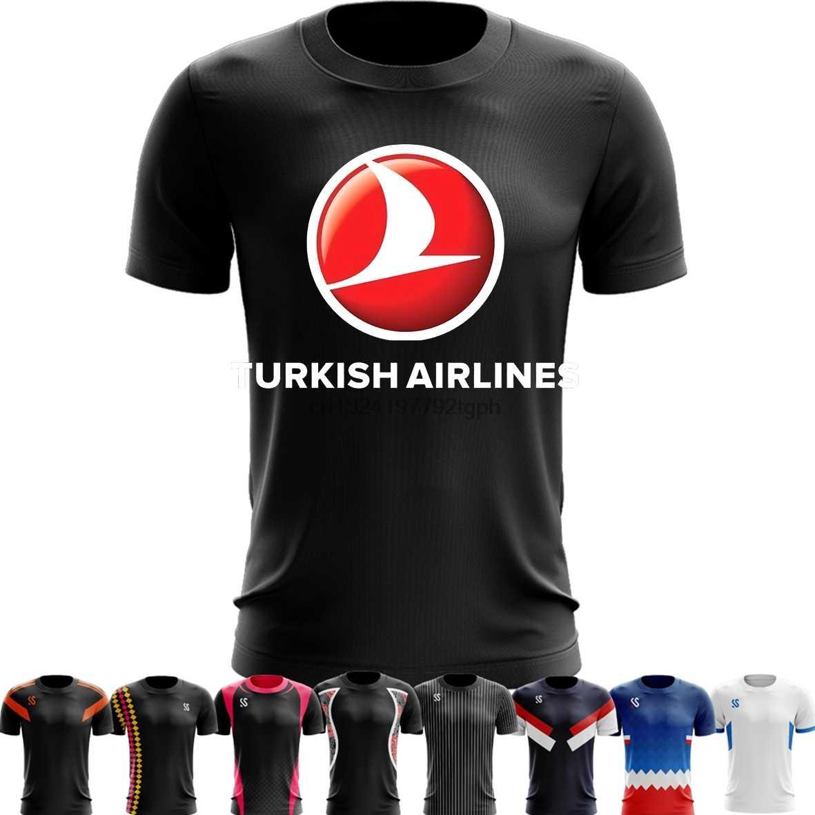 Sport Quick Dry Running Shirts Basketball Soccer Training T shirt turkish  airlines 4 Black Men Short Sleeve Tops 5XL 6XL