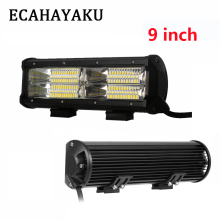 ECAHAYAKU 9 Inch 144W 3-Row Led Light Bar for Car 4x4 Offroad SUV UAZ Working Fog Lights driving light Headlight 12v 24v Barra