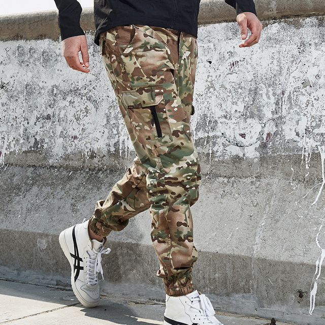 Mege Brand Men Fashion Streetwear Casual Camouflage Jogger Pants Tactical Military Trousers Men Cargo Pants for Droppshipping 69