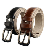 130cm 150cm Plus Size Designers Luxury Brand Femal PU Leather Unisex Woven Canvas Belts Men Male