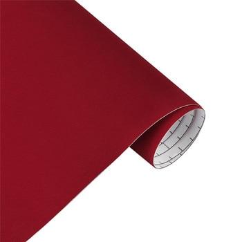10/30*100cm Suede Vinyl Film Velvet Fabric Car Change Color Sticker Adhesive DIY Decoration Decal Auto Motorcycle Accessories - Red, 10x100cm