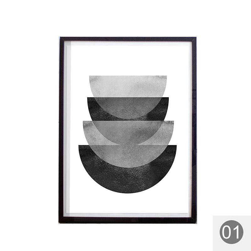 Black white wall abstract prints watercolor paintings gray geometric scandinavian posters minimalist art nordic decor modern in painting calligraphy from