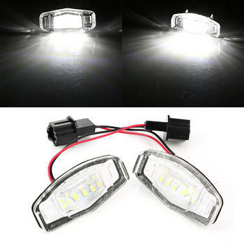 2pcs 18 LED License Plate Lights Canbus Error Free White LED Number License Plate Light For Honda Accord Civic Acura RL TSX RDX image