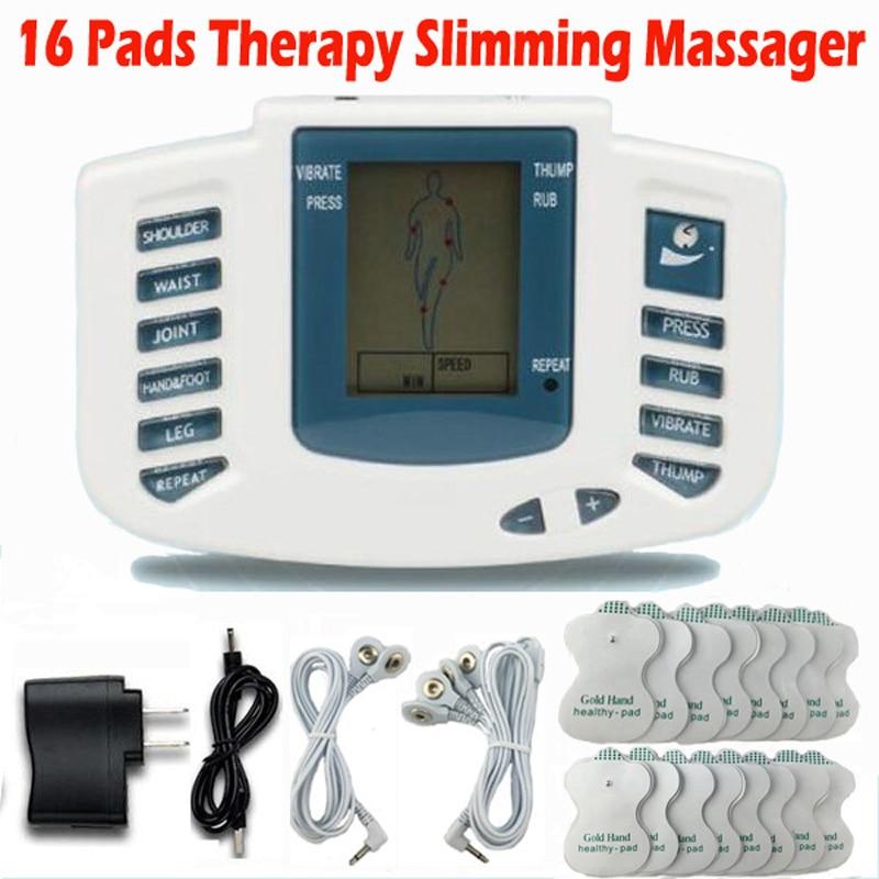 Elektrischer Anreger-voller Körper Entspannen Therapiemassager Massage Puls akupunktur Gesundheitswesen Abnehmen Maschine 16 pads