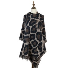 women shawls winter stoles leopard scarf fashion cashmere loop yarn mujer wraps new jacquard warm capes tippet