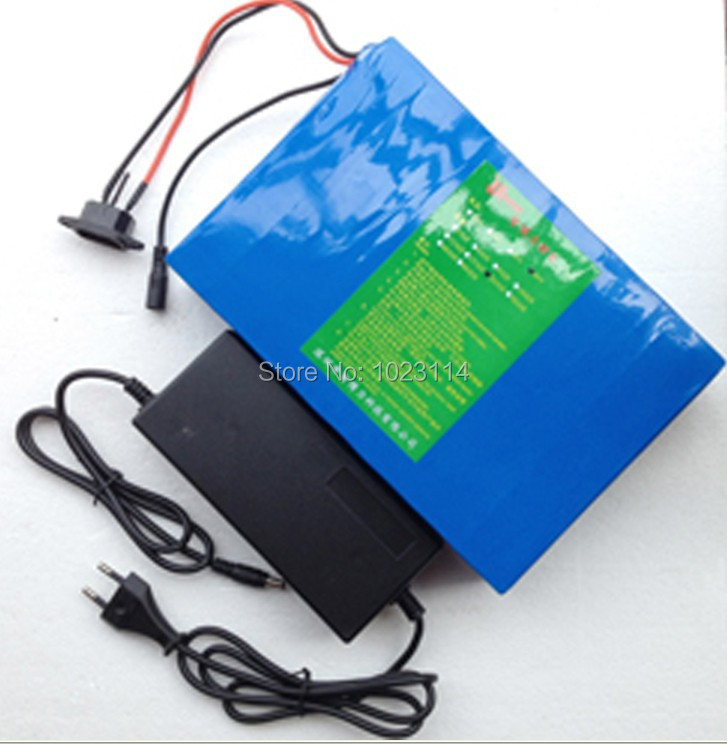 Fedex Free Shipping 48V Electric Bicycle Battery 15Ah 700W Power with Charger,BMS Lithium ion Rechargeable Battery Pack fedex free shipping 100pcs lot lithium ion polymer battery 2000mah 3 7v li ion rechargeable battery pack with bms for tablet pc
