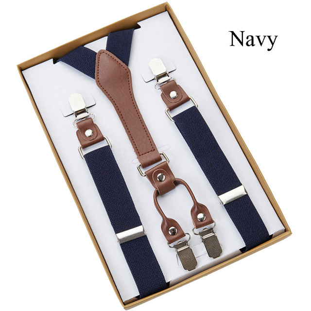 4 Clip Men's Suspenders Men Braces 1
