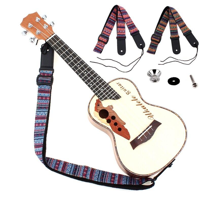 Adjustable 75-130cm Ukulele / Guitar Strap Cotton Leather Sling Belt Buckle with Tail Nail 10pcs lot a2430 hcpl 2430 sop 8 optical coupler oc optocoupler