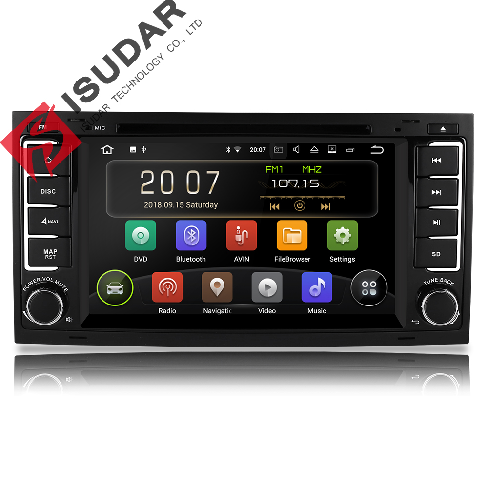 Isudar 2 Din Auto Radio Android 9 For VW/Volkswagen/Touareg CANBUS Car Multimedia Video DVD Player GPS Navigation USB DVR FM/AM